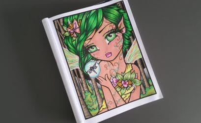 Mermaids, Fairies & other Girls of Whimsy de Hannah Lynn - Coloriage n°9