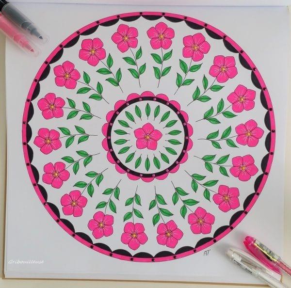 Nature Mandala de Armelle Troyon - Coloriage n°11