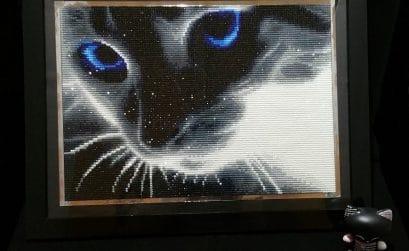Diamond Painting : Le chat aux yeux bleus