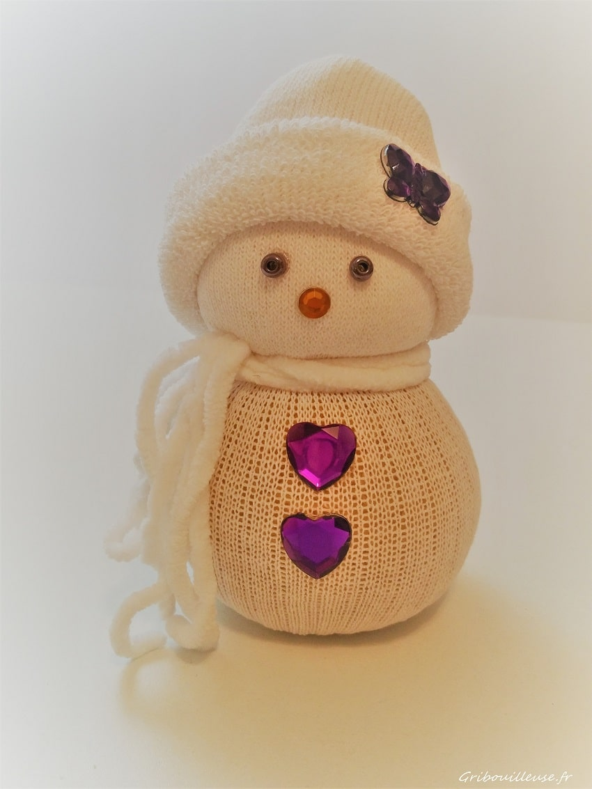 DIY Bonhomme de neige chaussette