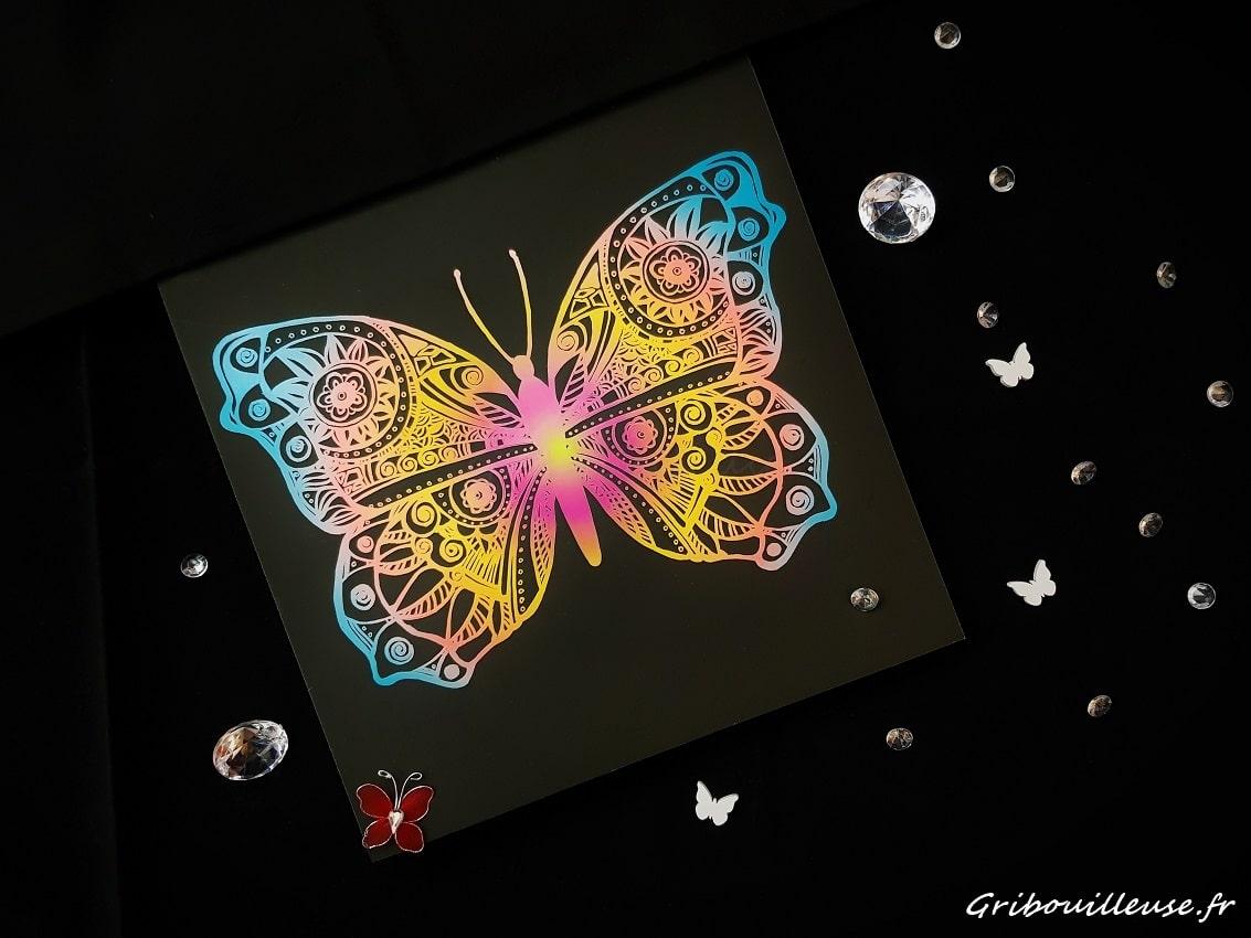 Livre à gratter, Papillons, Marabout