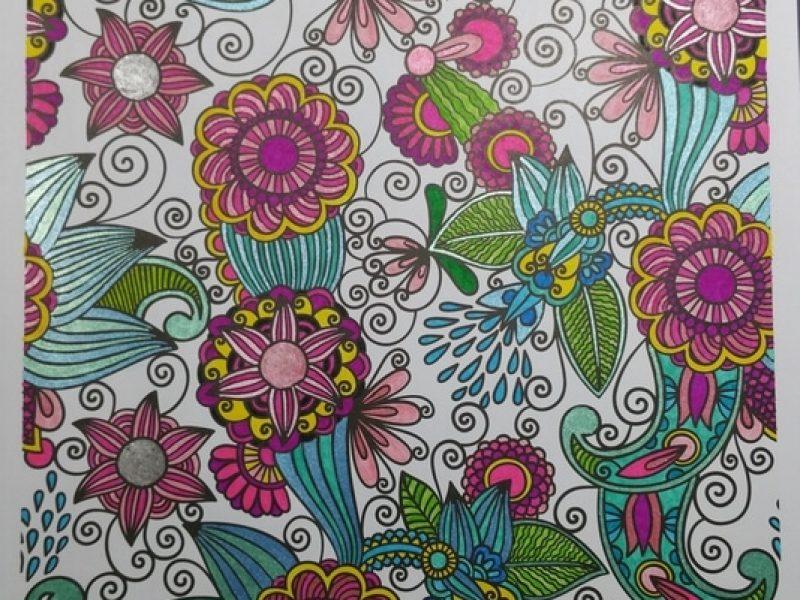 Coloriage drôles de fleurs