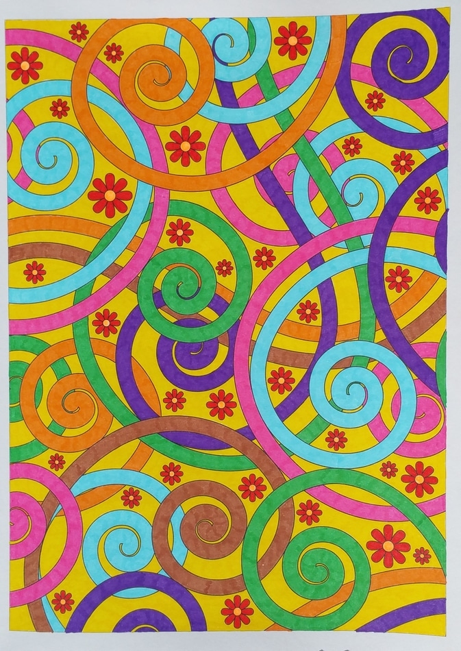 seventies coloriage 1
