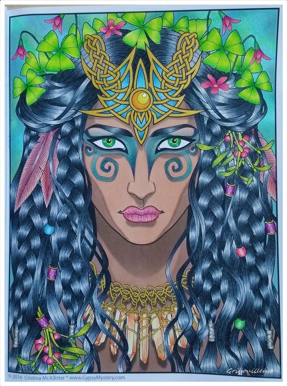 Magical Beauties de Cristina McAllister - Coloriage n°4