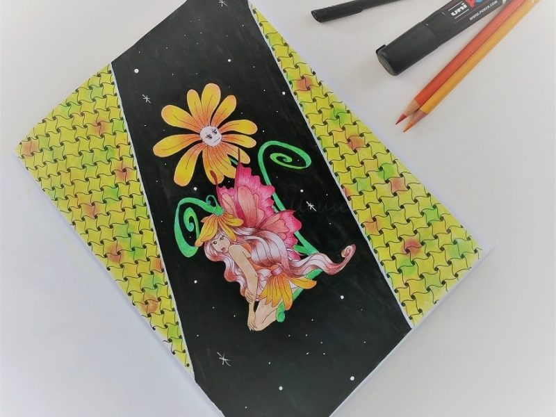 Inspiration Zentangle, camoufler un fond de coloriage raté