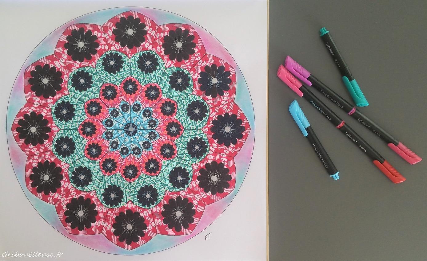 Nature Mandala de Armelle TROYON - Coloriage n°12