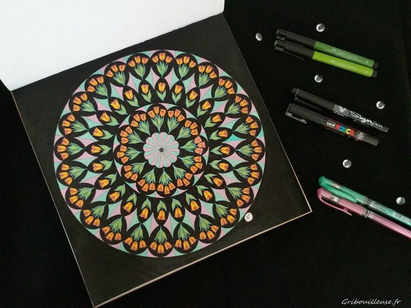 Mandala Faber-Castell et Stylo gel