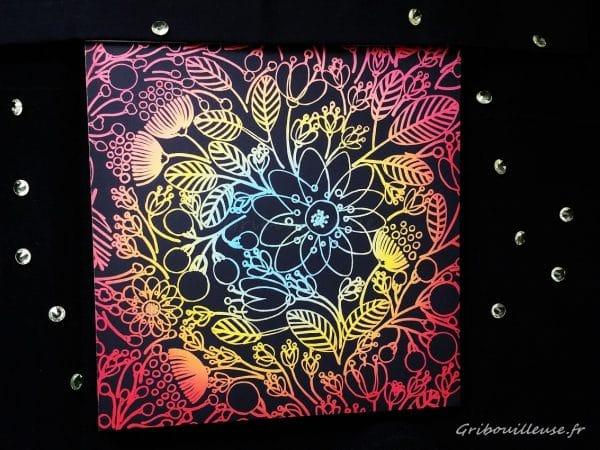 Livre à gratter, Fleurs, Marabout