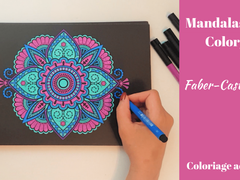 Mandalas Nuit aux Faber-Castell PITT – Speed Coloring