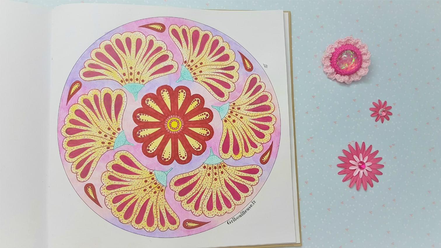 Nature Mandala, test peinture acrylique