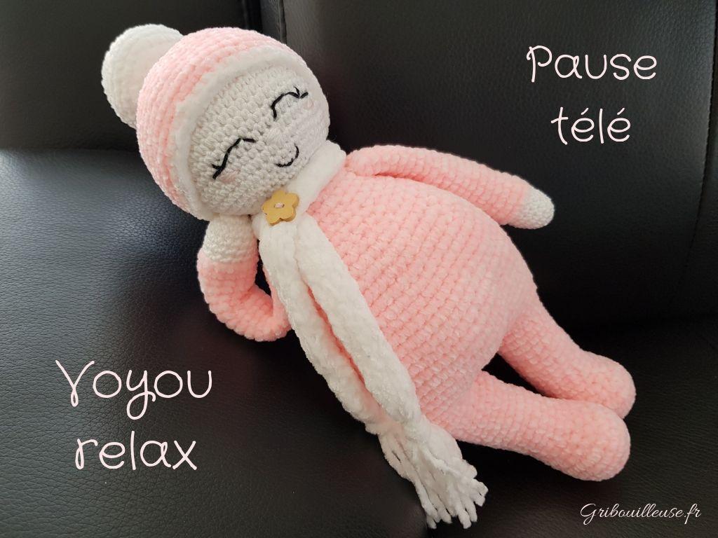 Read more about the article Voyou doudou en laine chenille