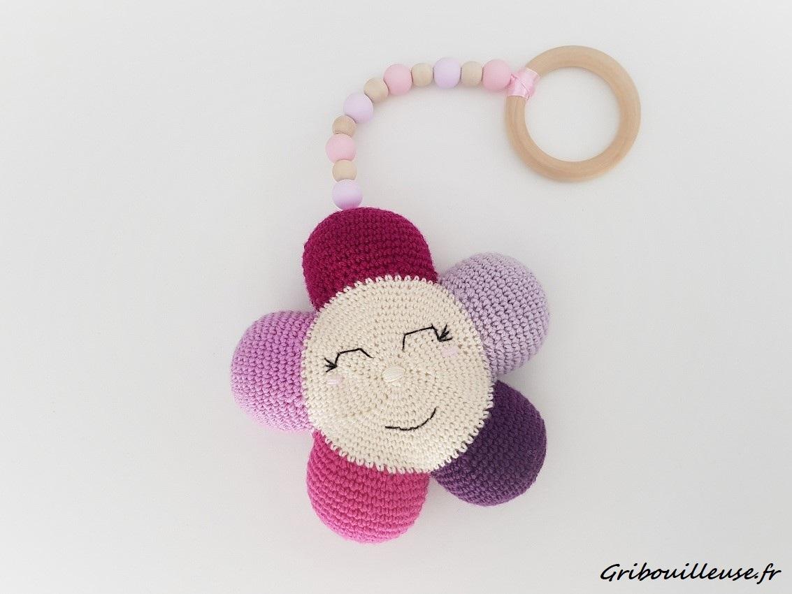 Fleurs Hochet au crochet