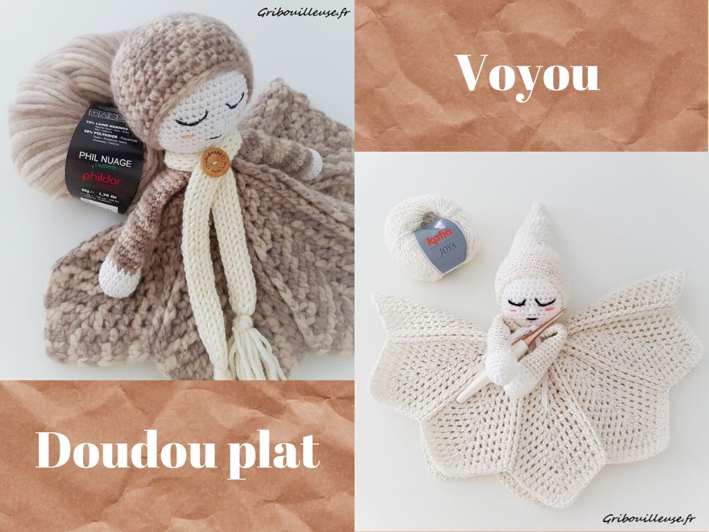 Voyou – Doudou plat couleurs neutres