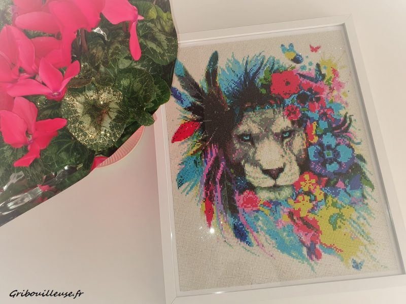Diamond Painting 7 – Le lion Fleuri