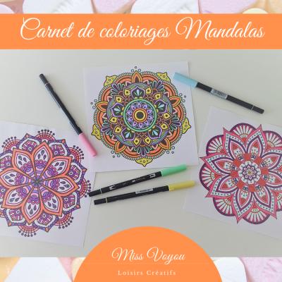 Carnet de coloriages Mandalas 6, 7 et 8