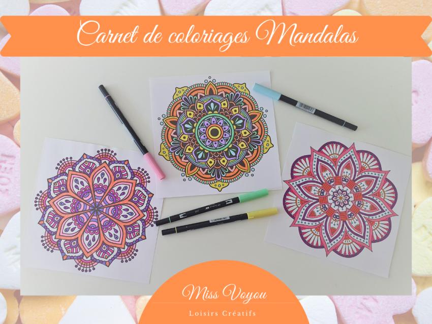 Carnet de coloriages Mandalas