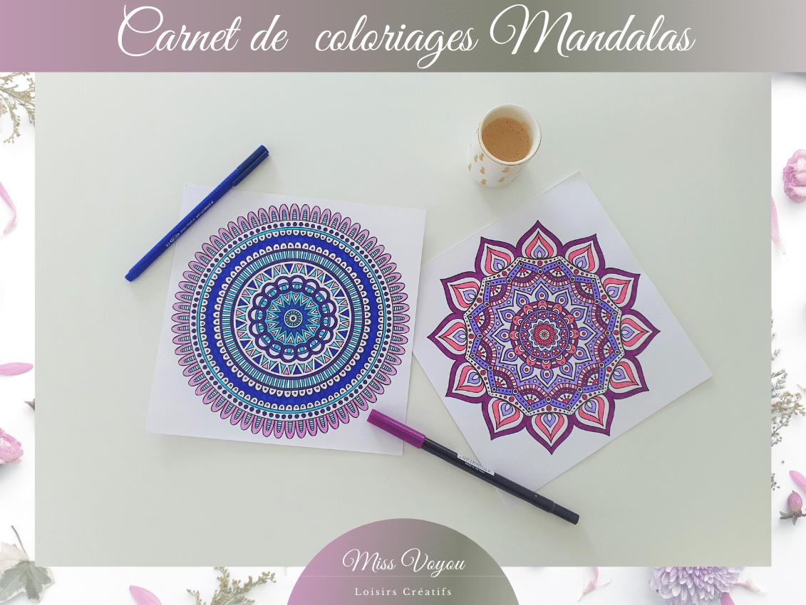 Carnet de coloriages Mandalas 9 et 10