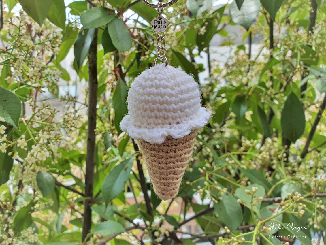cornet de glace au crochet