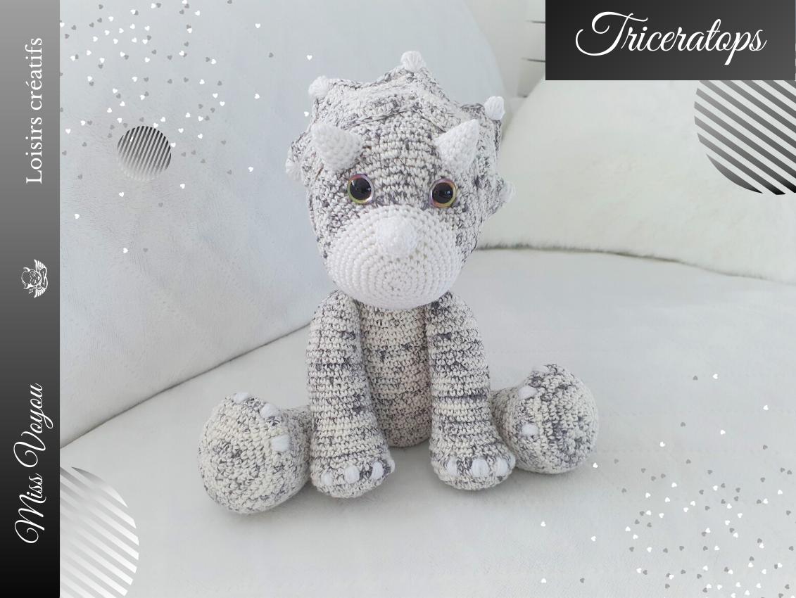"""Le Triceratops de """"Lidia crochet tricot"""""""